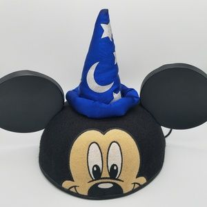 Disney Mickey Fantasia Sorcerer Ears Hat NWT